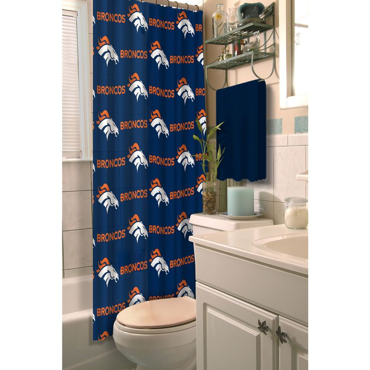 NFL Broncos Shower Curtain - Overstock™ Shopping - Great Deals on Shower Curtains