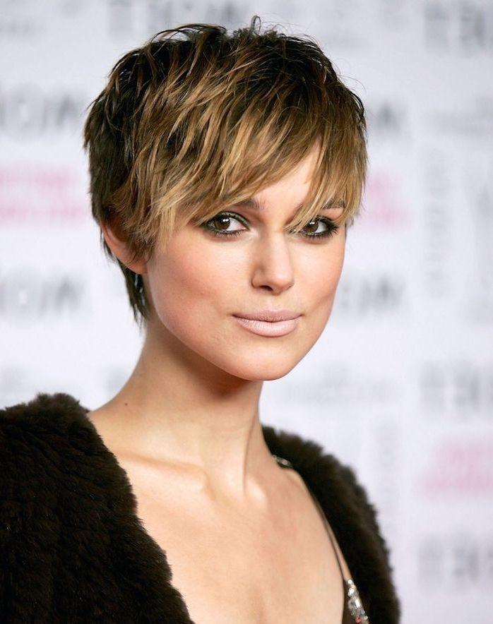 Frisuren Für Kurze Haare Natalie Portman Mit Balayage Effekt Und