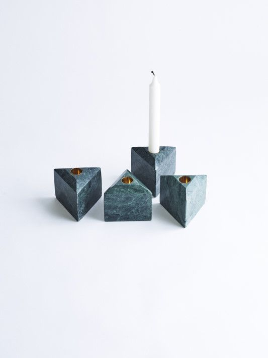 LOUISE ROE COPENHAGEN CHRISTMAS DECORATION AW15  ADVENT CALENDER LIGHT IN GREEN MARBLE