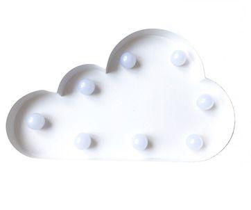 LED-lampa moln vit
