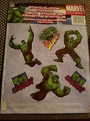 Incredible Hulk Window Clings Marvel Universe Room Decorations Avengers