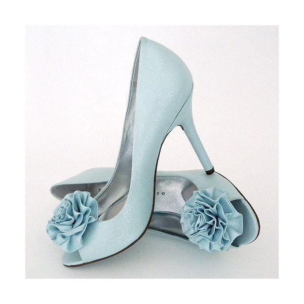 baby blue wedding heels..