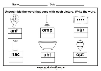3 letter words picture unscramble cvc word work teaching kindergarten kindergarten. Black Bedroom Furniture Sets. Home Design Ideas
