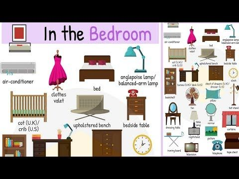 things in the bedroom vocabulary | learn names of bedroom objects