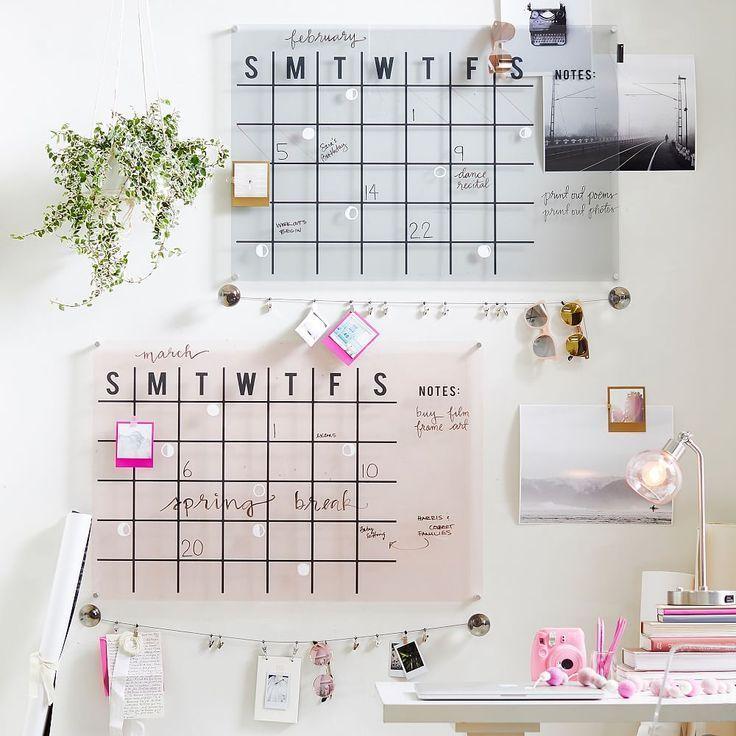 Acrylic Monthly Calendar Diy Decoracion Tumblr Wall Planner Home Office Design Room Inspiration