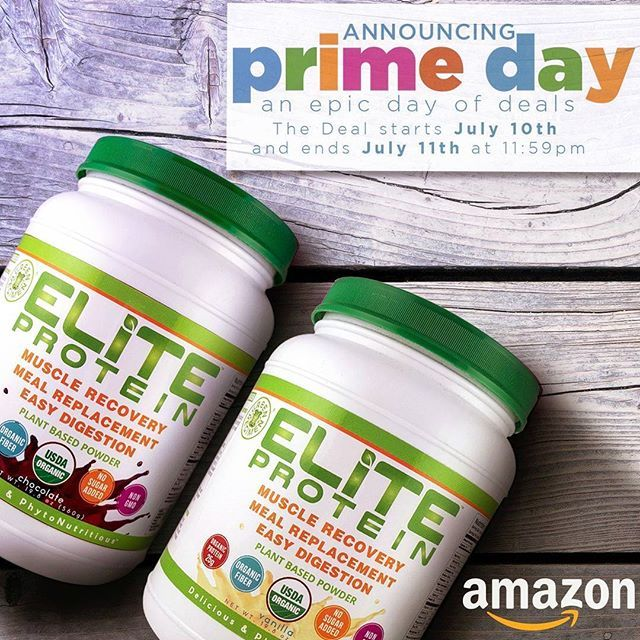 Amazon Prime Day SALE begins NOW! Stock up on Elite Protein. ... Be Elite! ... Click on the link in the Bio to order Elite Protein or find it on Amazon.com #eliteprotein #greenregimen #vegan Vegan Recipes from BEAUT.e See more recipes >>