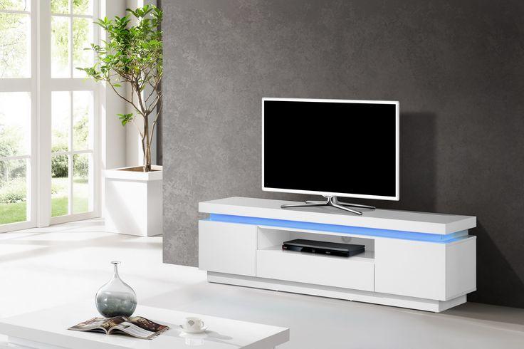 TV-skrinka s LED podsvietením na diaľkové ovládanie  Rozmery: 160x40cm  Výška: 49cm  Material: Vysoký lesk - Lak  TV-skrinky z vysokého lesku  Nábytok s vysokým leskom, je k dispozícií vo farbách biela, &sc