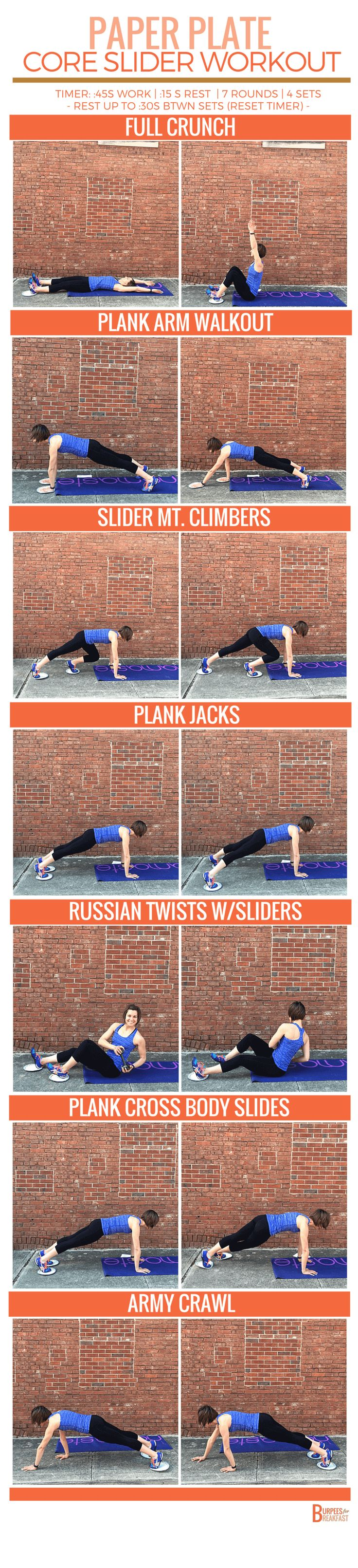 You are going to love this Slider Workout. Seven core moves to challenge your limit of stability and work toward building a strong core!