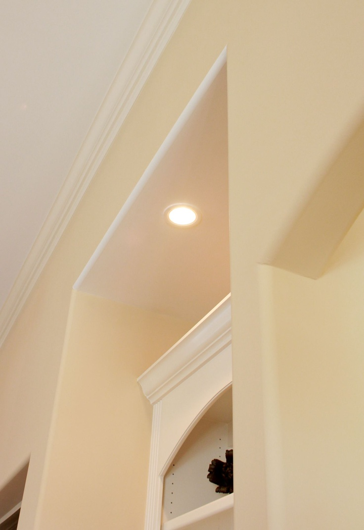 Rounded corners on sheet rock, recessed lighting, built-ins...these are just a few of our details in the Tropics Collection with Logan Homes.