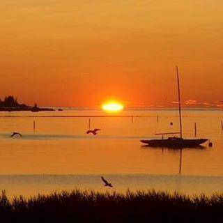 Sunset Gulf of Bothnia Kokkola Finland - photo ari klemola