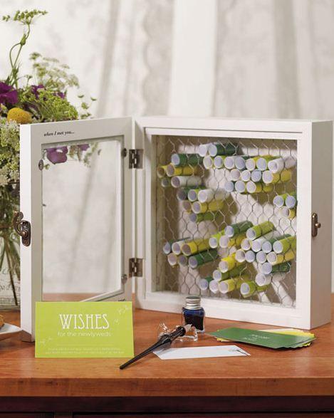 wedding wishes box // loving this idea!