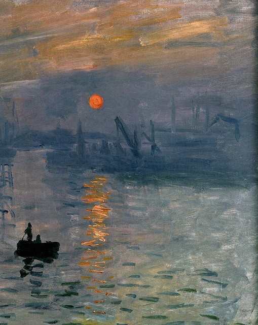 Detail - The Port of Le Havre in the Fog by Claude Monet