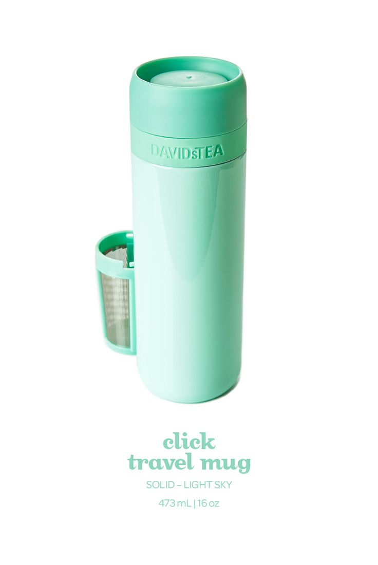 This leak resistant travel mug has a fun push-button top for easy sipping access.