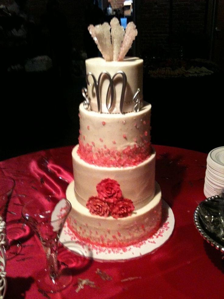 The Bride Loved Rock Candy Rock Candy And Cake 4 Tier Cake The Cupcake Collection