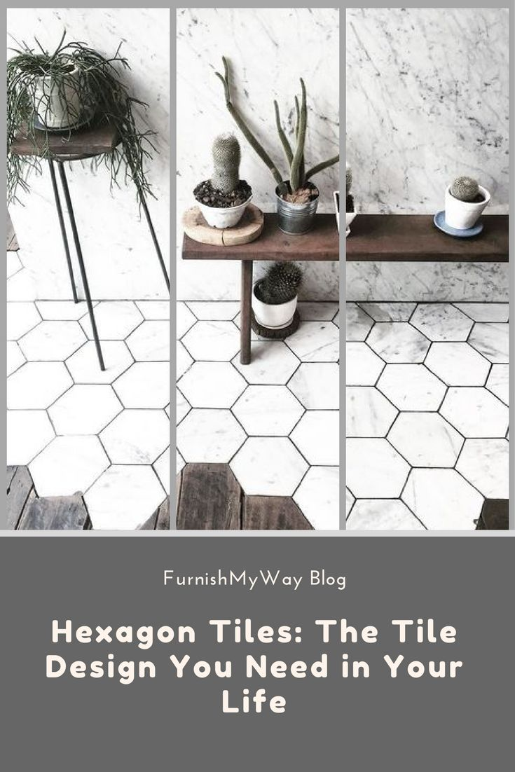 Most of the tile designs you see nowadays are square or rectangular, which can be awesome, no doubt, but have you seen hexagon tiles? Check them out!