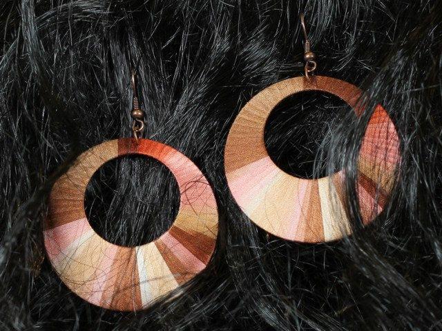 Unique handcrafted silk hoop earrings by intuitashop on Etsy