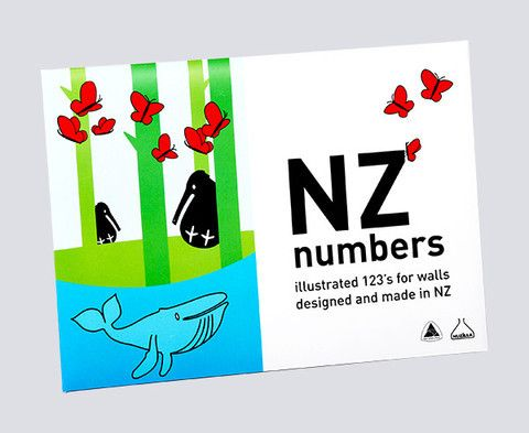 NZ Numbers Wall Frieze $25