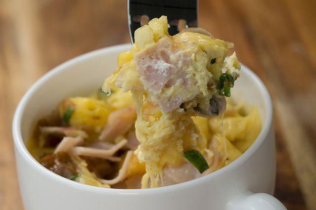 Aprenda a fazer a caneca de café da manhã: | Café da manhã completo numa caneca só!