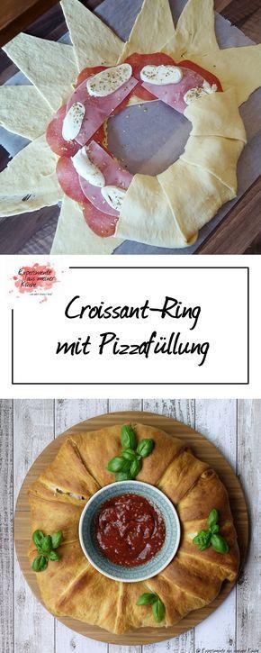 Croissant-Ring mit Pizzafüllung   Rezept   Kochen   Partyfood