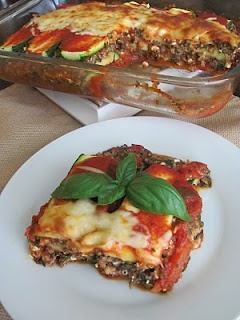 Zucchini and quinoa lasagna.  This looks absolutely delish.