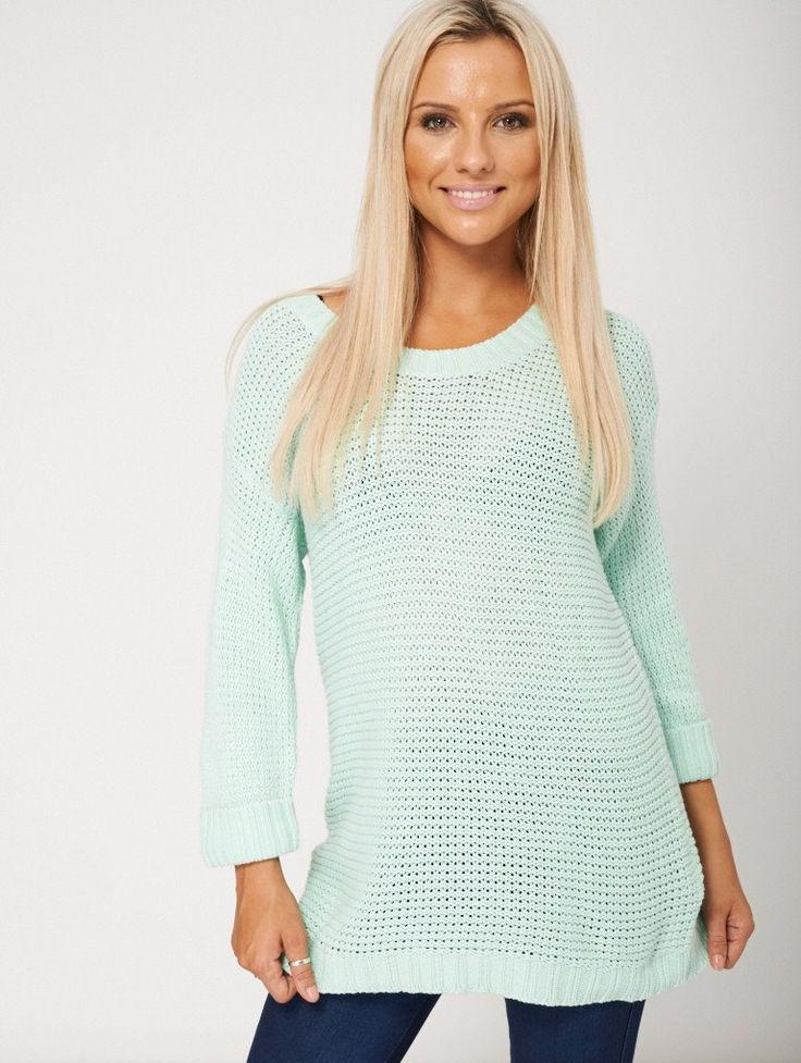Winter Fashioned Loose Style Green Jumper