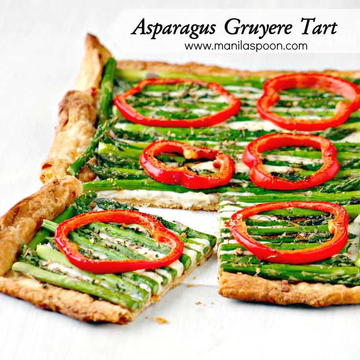 ... ASPARAGUS GRUYERE TART! Feel like spring time in the midst of winter