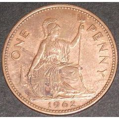 1962 ONE PENNY EF!!!!! for R1.00