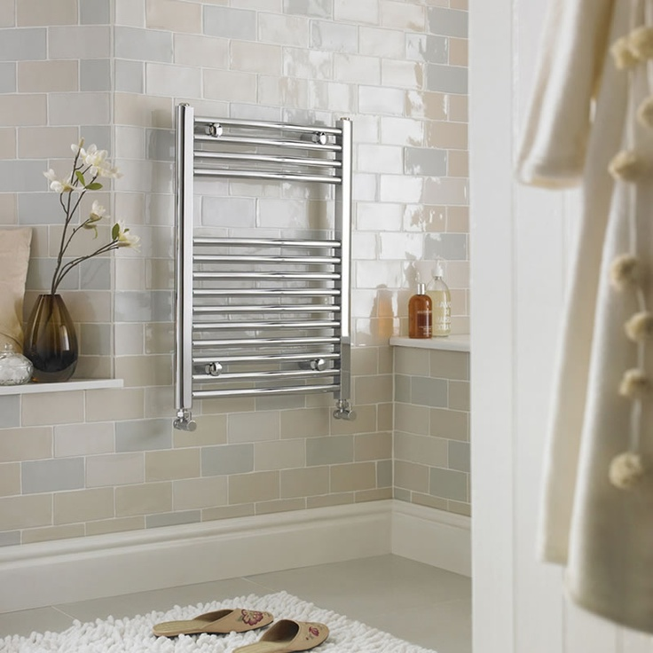 Milano Ribble Curved Chrome Heated Towel Rail 800mm X 500mm Bathrooms Suitessmall