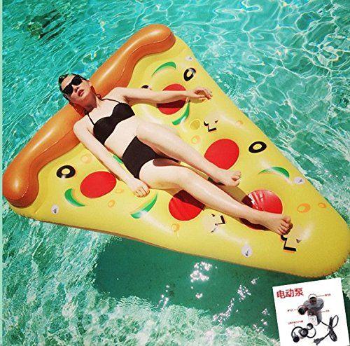 FANGJIN Riempire il peluche dell'anello dell'acqua di nuoto per i bambini. il galleggiamento galleggiante di tavola da surf pizza che ho + pompa di elettrico gonfiato: Amazon.it: Sport e tempo libero