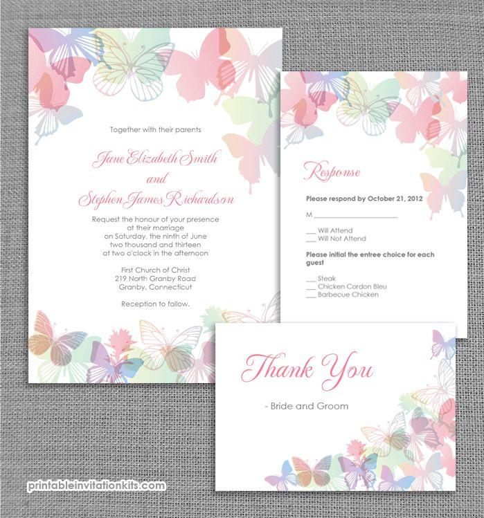 Imprimibles para una boda con mariposas