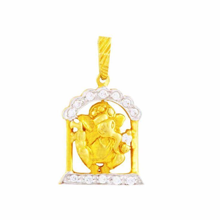 The perfect gold and diamond pendent this festive season #GaneshPendent #GaneshUtsov #GaneshChaturthi