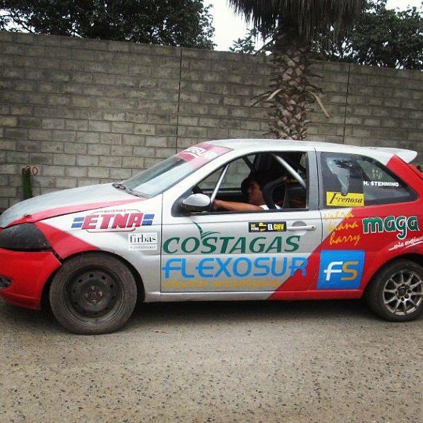 Probando el auto de rally