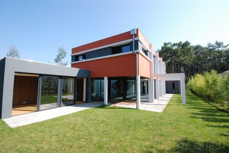 anglet chiberta maison contemporaine a vendre au pied de la foret immobilier biarritz et. Black Bedroom Furniture Sets. Home Design Ideas