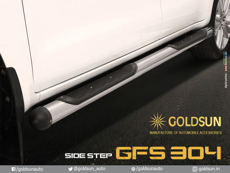 We, Goldsun provide Automobile Accessories #front_nudge_guard, #rear_bumper, #side_steps & #luggage_carrier for Toyota Innova crysta & more #Indian #cars.   Product : Side Step Model : GFS 304  For details, call: +91 93444 49111 Visit your nearest Automobile Accessory store or www.goldsun.in   #goldsun #automobile #accessories #crysta