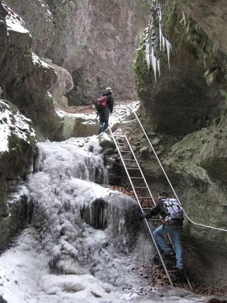 Rám-szakadék,  The Gorge of the River Rám makes for a pretty challenging 2-hour walk at any time of the year.
