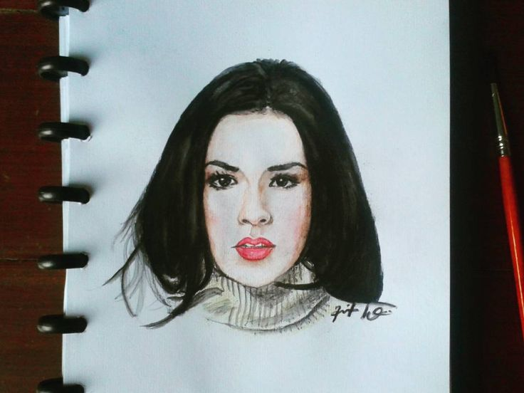 """Raisa Andriana"" After giving water. Wdyt? ... #raisa #yourraisa #singer #indonesia #art #sketch #drawing #worldofartists #arts_help #art_spotlight #gambarpakehati"