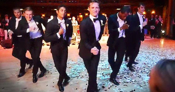 Professional Dancer Surprises Ballerina Bride With EPIC Groomsmen Dance - Inspirational Videos