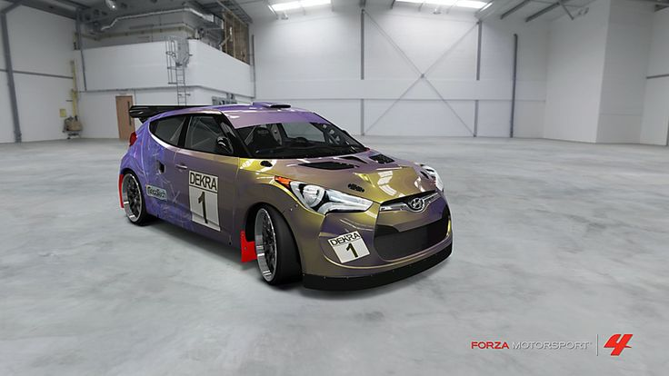 Hyundai Veloster # 37 of golddigger73 in the window of Forza Motorsport 4