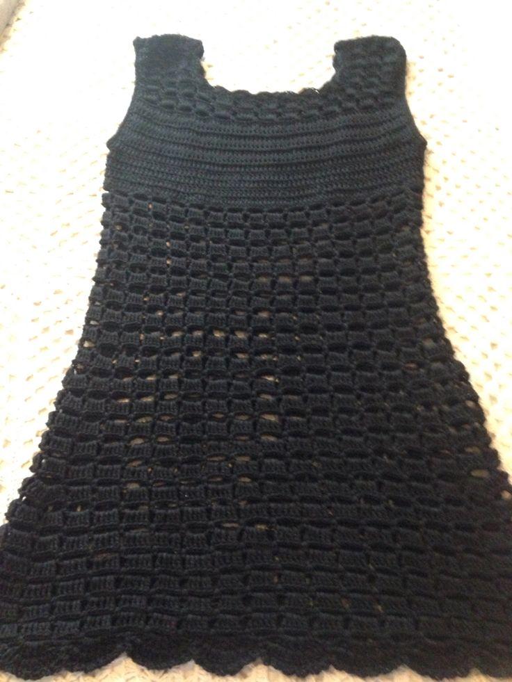 Vestido a crochet en algodón. Mis tejidos