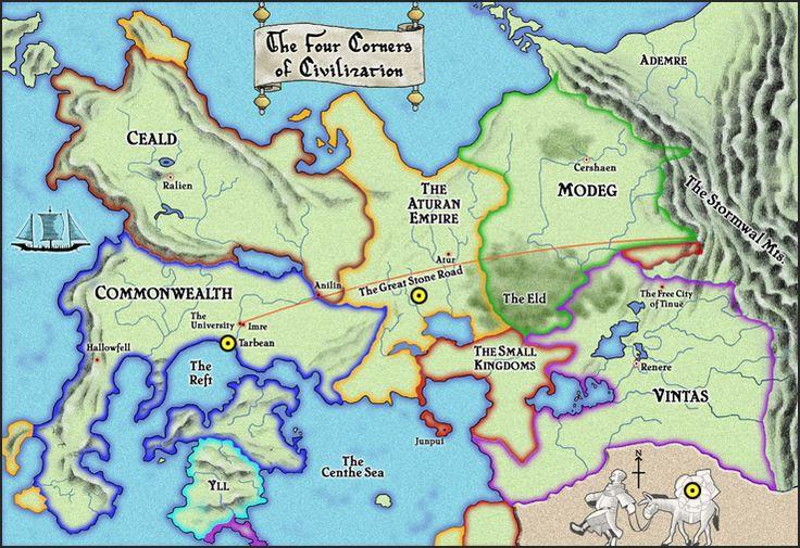 The Four Corners of Civilization - Patrick Rothfuss' saga