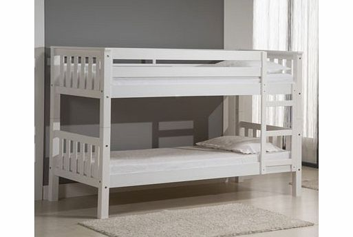 Verona Designs Barcelona 2ft6 Whitewash Bunk Bed The fantastic Barcelona bunk bed from Verona - now available in white. With its traditional clean lines its ideal for two children sharing a room together. The solid pine construction and sturdy de http://www.comparestoreprices.co.uk/bunk-beds/verona-designs-barcelona-2ft6-whitewash-bunk-bed.asp