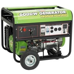 All Power 6000W 13 HP Propane Powered Generator with Electric Start & Mobility Kit