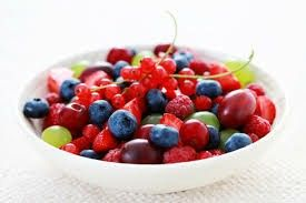 Berry salad blueberry , grapes , well grapes are not really a berry i don't know ??