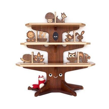 Yo de pequeña (o ahora) habría sido muy pero que muy feliz con una estantería así.Bookshelves, Happy Trees, Kids Room, Kidsroom, Woodland Creatures, Bookcas, Book Shelves, Baby, Trees Bookshelf