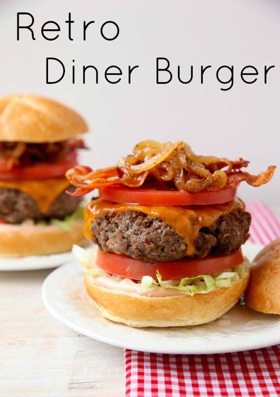 Retro Diner Burger
