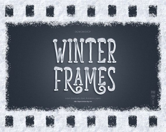 #Snow #Frames, #Winter Frames, instant download clipart, digital white borders with textures of snow and snowflakes, Christmas, holiday photo frames  Winter frames collection ... #etsy #digiworkshop #scrapbooking #illustration #creative #clipart #printables #cardmaking #digital #overlay #christmas #snowflakes #borders #holiday #white