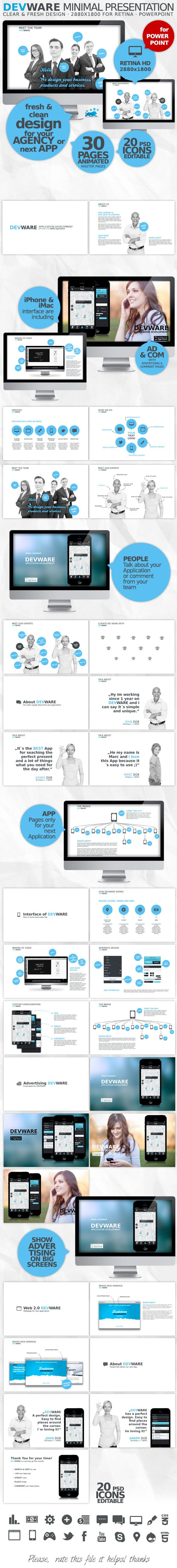 DEVWARE | 30 Pages | PowerPoint Presentation #idea #wdwl #personal • Click here to download ! http://graphicriver.net/item/devware-30-pages-powerpoint-presentation/4458248?s_rank=39&ref=pxcr