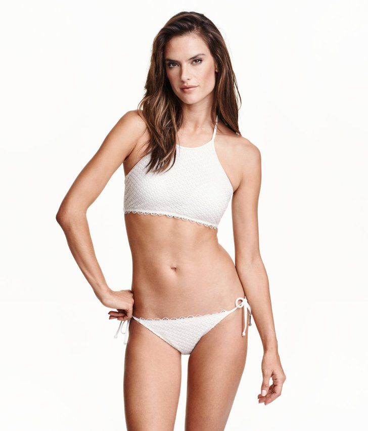 Pin for Later: 10 H&M Swimsuits So Good, You Simply Must Shop Them Now The Crochet High-Neck H&M Tie Bikini ($15)