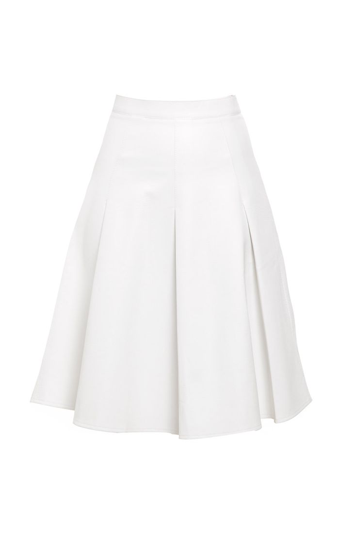 Saia Midi Couro Rodada Branca - roupas-saias-saia-midi-couro-rodada-branca Iorane