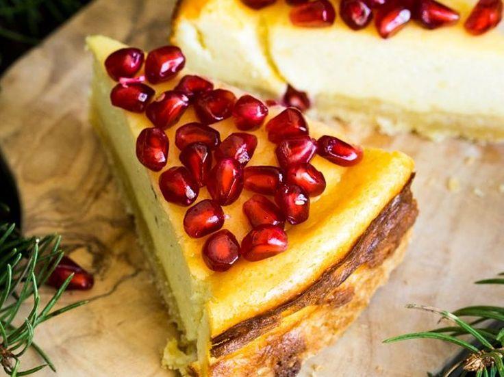 DIY-Anleitung: Ziegenkäsekuchen mit Granatapfel zubereiten via DaWanda.com